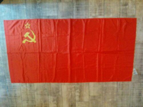Vintage Original Soviet Flag Hammer & Sickle USSR Red Banner OSVOD 2.6*5.2ft