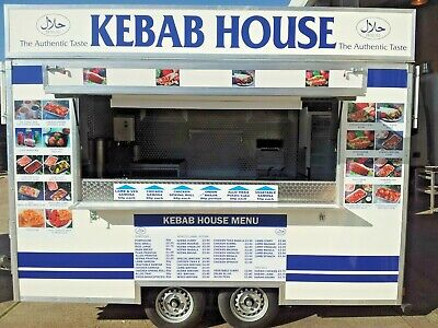12 ft. Mobile Catering Trailer for Sale Kebab Van/ burger van