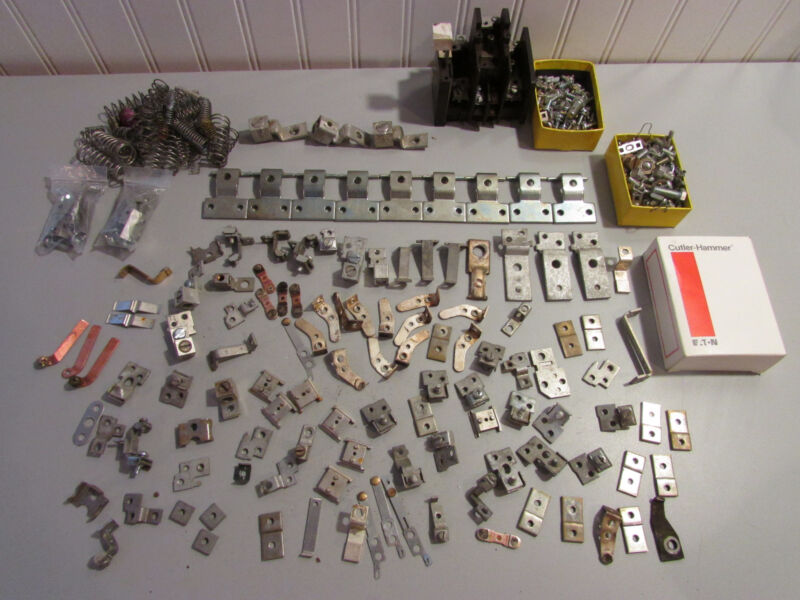 Massive Lot of Eaton Cutler Hammer Contact Parts. 5lbs! Mostly Unused.
