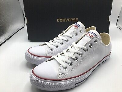 Converse Shoes Chuck Taylor All Star Men Size 10 Leather Low Top White