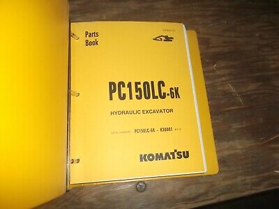 Komatsu Pc150lc-6k Hydraulic Crawler Excavator Parts Catalog Manual Book