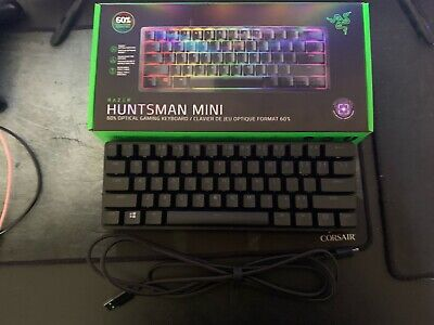 Razer Huntsman Mini 60% Gaming Keyboard Purple Optical Switches NEW BEST BUY