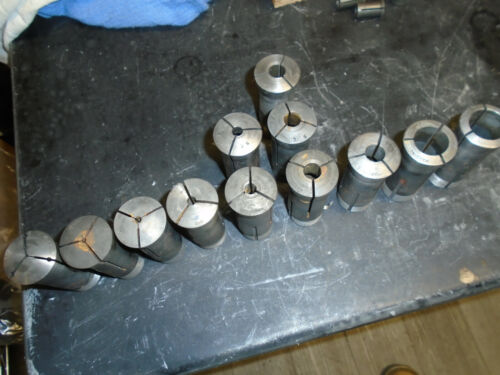 COLLETS HARDINGE R8 LOT OF 12 MISC. SIZES (LISTED BELOW) FREE SHIPPING