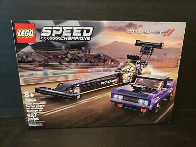 LEGO Top Fuel Dragster and 1970 Dodge Challenger T/A 76904 Building Toy New Seal
