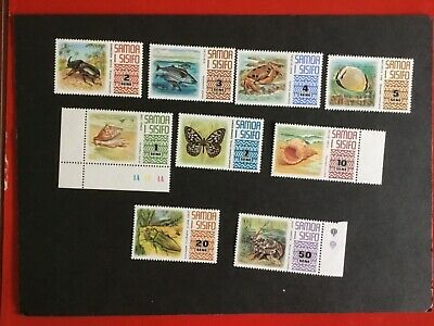 Samoa 1972 Part set of 9 MNH SG390-398  Indigenous species , very good condition