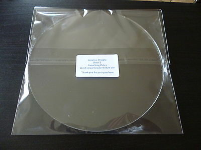 """8.75 Inch Round Ganaching Plates Acrylic Cake Decorating Discs 8.75"""""""