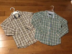 2 Plaid Boys' Shirts, Size 5-6