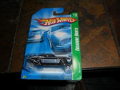 1969 REGULAR '69 CAMARO # 12/12 HOT WHEELS 2008 TREASURE HUNT MINT IN PROTECTO, used for sale  Shipping to Canada