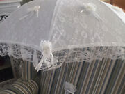 White wedding parasols Booval Ipswich City Preview