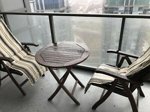 Indoor outdoor table and chairs