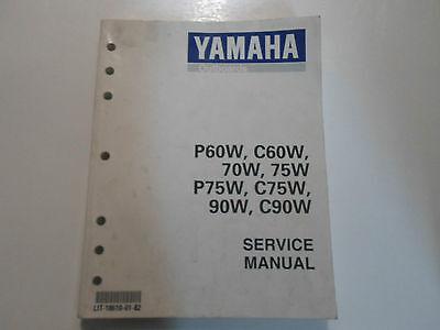 1998 Yamaha Outboards P60W C60W 70W 75W P75W C75W 90W C90W Service Shop Manual N