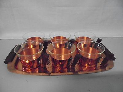 Teeset Teetablett Serviertablett mit 6 Tassen