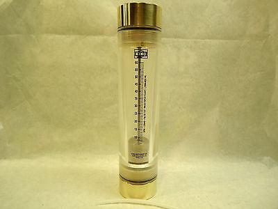 New King Instrument Rotameter 7205-0231-1-2-w 7205023112w 2 Brass 60 Gpm