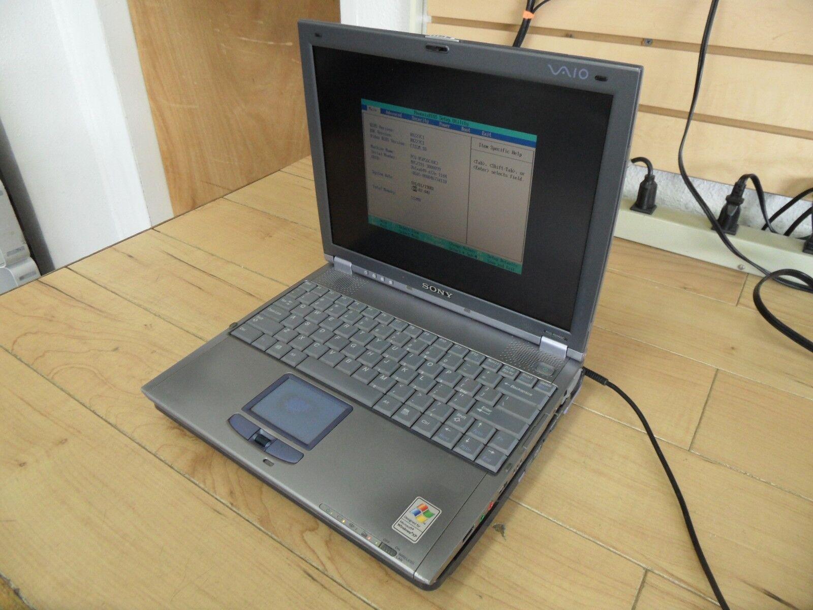 Sony PCG-R505GC Laptop No Windows HD Wiped PCG-651R PCG-DSM51 Dock *