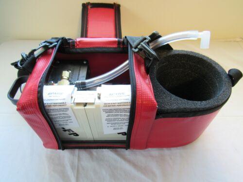 Lifepak Compact Mobile SUCTION PUMP Vacuum Unit W/ 2 Batteries