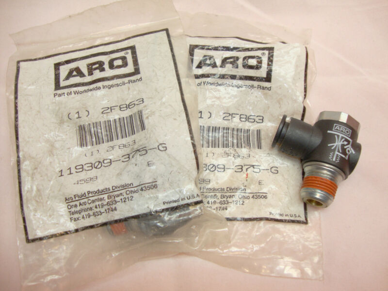 2 Lot NEW ARO Ingersoll Rand 119309-375-G Air Flow Control Valve 3/8  2F863