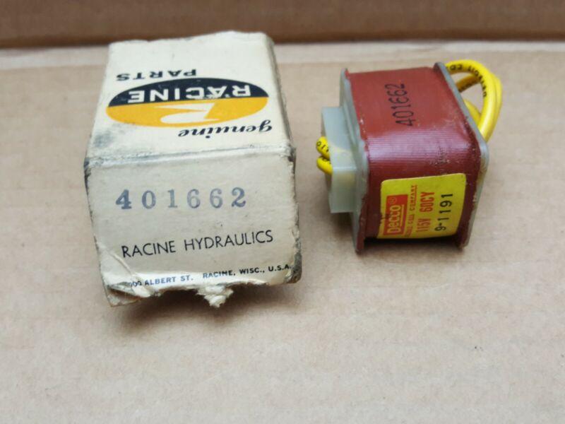 Racine Solenoid Coil 401662 - New Old Stock - Decco 9-1191M