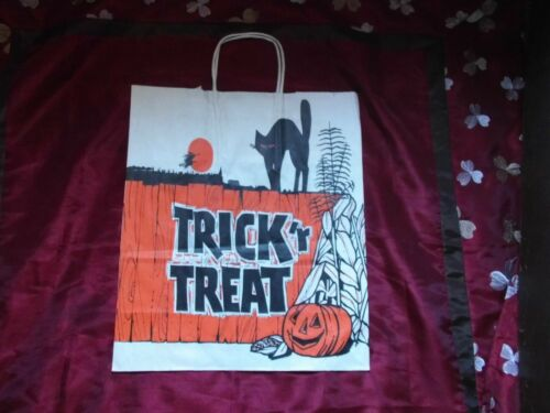 VINTAGE HALLOWEEN PAPER TRICK OR TREAT SHOPPING BAG