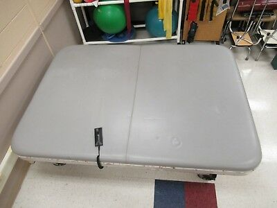 Tri W-g Tg1857s Motorized Hi-lo Mat Table 8 X 7 Physical Therapy Bed Grey