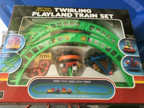 Twirling Playland Train Set Battery Operated 1988 Diversified Specialists