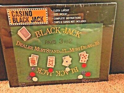 NEW Casino Black Jack Cloth Layout 24