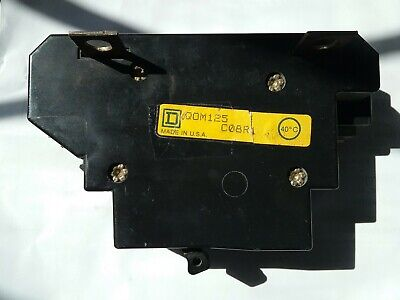 Sq D 125 Amp 2 Pole Circuit Breaker Used