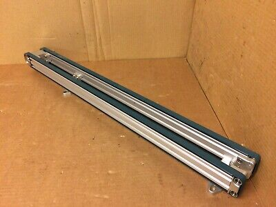 Twin Belt Mini Conveyor 8mm Drive Shaft 916 Belts 32.5 Travel Length