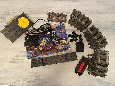 1996 LEGO System 4565 9V Freight and Crane Railway 6.5 Lbs Of Incomplete Set VTG