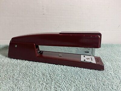 Vintage Swingline 747 Burgundy Metal Stapler Office-home 94-02 Made In Usa