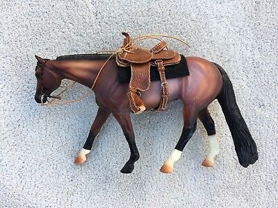 Top LSQ Breyer Horse Traditional Accessory Western Saddle Set Bosal Kathy Booker