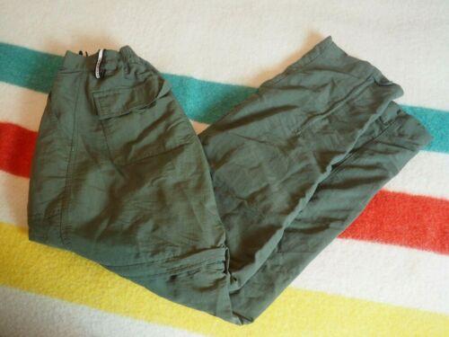 VTG 90s The North Face Womens Small S Convertible Nylon Pants Shorts Green EUC