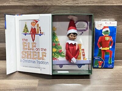Elf On The Shelf Boy Doll Dark Skin & Brown Eyes Plus Bonus Outfit!