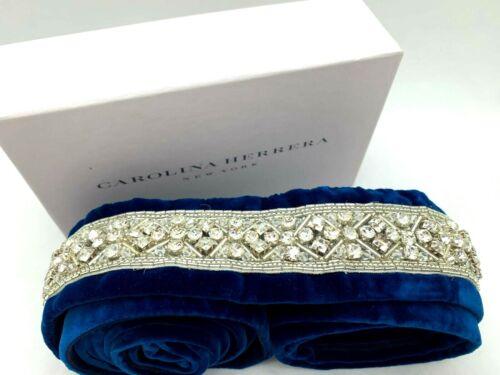 Carolina Herrera Blue Velvet Bridal Sash