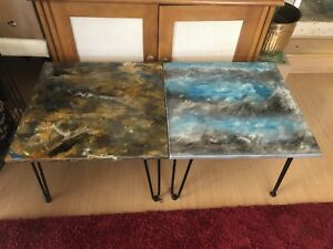 Unique custom made side tables/countertops