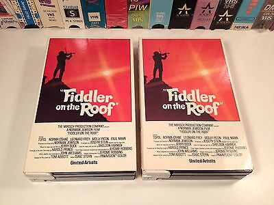 Fiddler On The Roof Betamax 2-Tape Magnetic Video 1971 Musical Drama Beta Topol