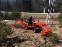 Backhoe, trenching, residential excavation for hire