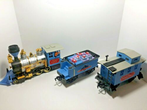 The Red Nose Express Christmas Train Engine Rudolph Reindeer + 2 cars ONLY.