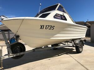 FISHING BOAT * YALTA HALF CABIN ON TRAILER Broadview Port Adelaide Area Preview