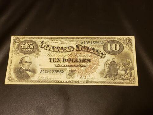 1880 $10 Legal Tender Brown Seal Note Rare FR-108