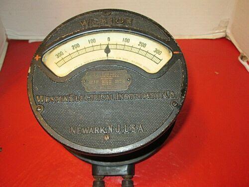 Vintage Western Union Weston Electrical Instrument Volt Milliammeter Model 24