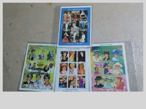 PRINCESS DIANA Lot Of 4 PLATE BLOCKS OF 9 STAMPS EACH LIMITED EDITIONS