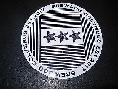 Brewdog Brew Dog Columbus Circle Stars Sticker Decal Craft Beer Brewery