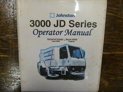 Johnston 3000 Street Sweeper Truck Owner Operator Maintenance Manual