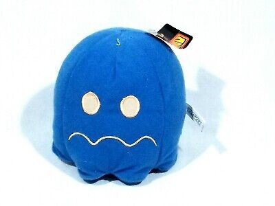 """Pac-Man Plush Ms Pacman Blue Ghost Stuffed Animal Toy 5.5"""" Toy Factory Namco"""