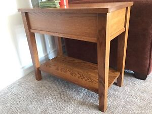 Oak end tables (two)