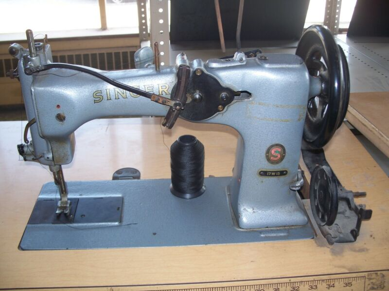 Singer 17w15 industrial double throw zig zag sewing machine parachutes