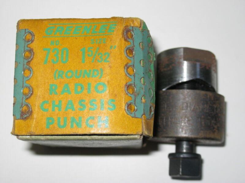 "GREENLEE 1  5/32"" ROUND RADIO CHASSIS PUNCH"