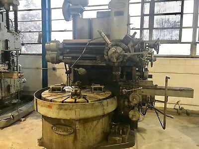 54 Bullard Vtl Vertical Boring Mill 4 Jaw Table 2 Heads Spiral Drive