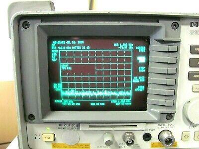 Hewlett Packard Hp 8590b Spectrum Analyzer 9 Khz To 1.8 Ghz Good Working