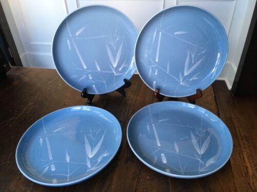 """Lot of 4 Winfield BLUE PACIFIC PATTERN 10 1/4"""" Dinner Plates MADE IN CALIFORNIA"""